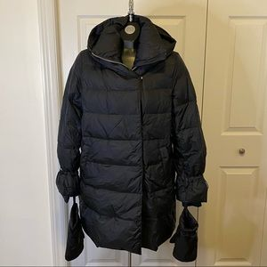 Zara Puffer Down Winter Coat with mittens Sz Med